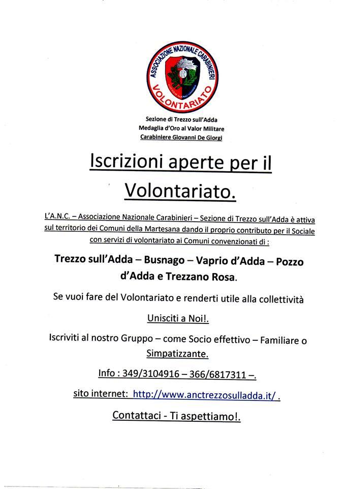 Iscrizione Volontariato